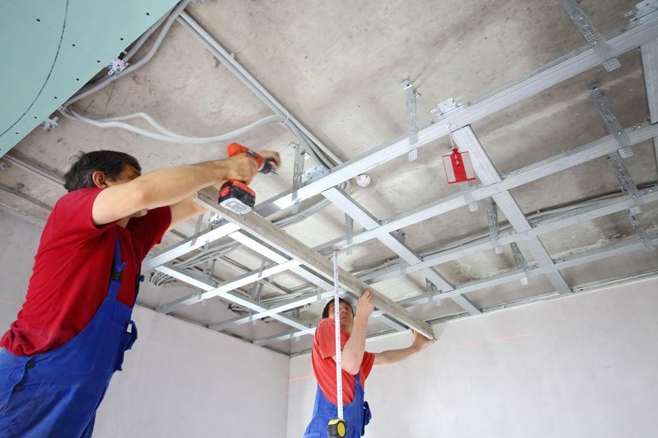 Как сделать обрешетку на потолке 174