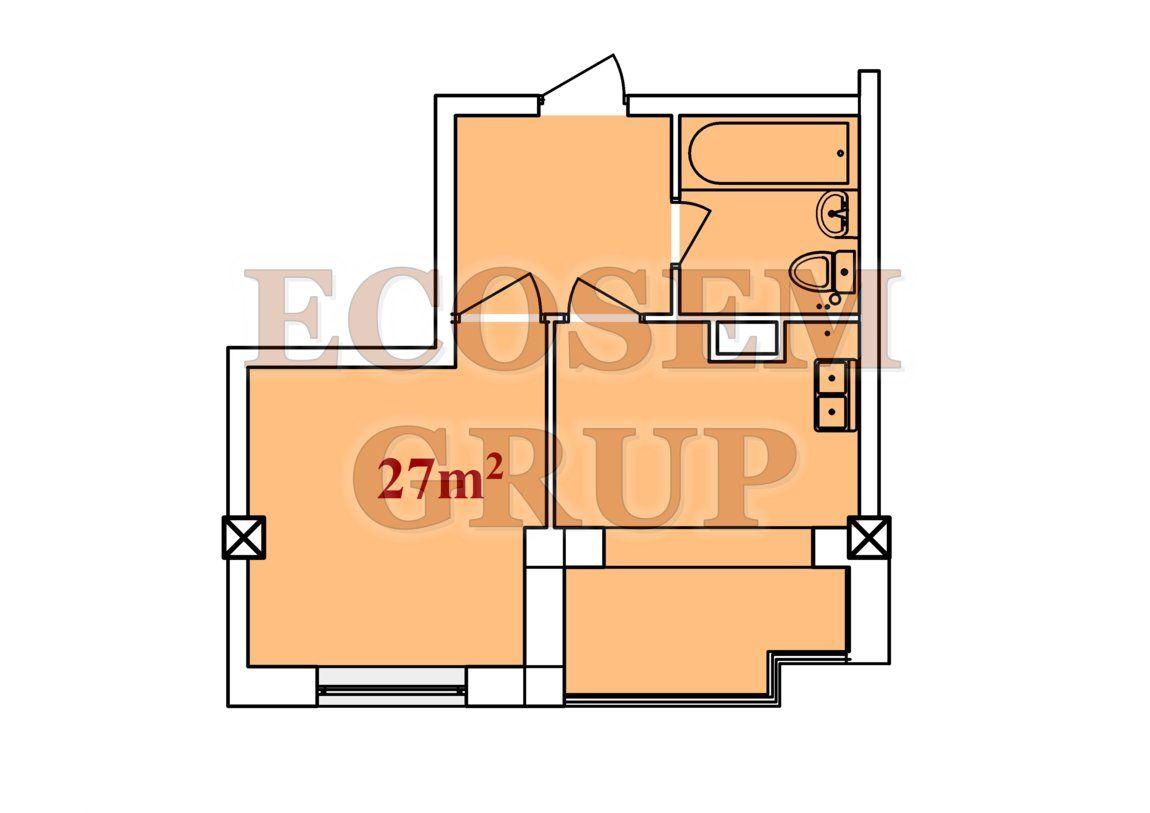 Bloc Nou Apartamente cu 1 camera 27 m2 – 35 m2 Новострой Однокомнатные квартиры 27 m2 – 25 m 2
