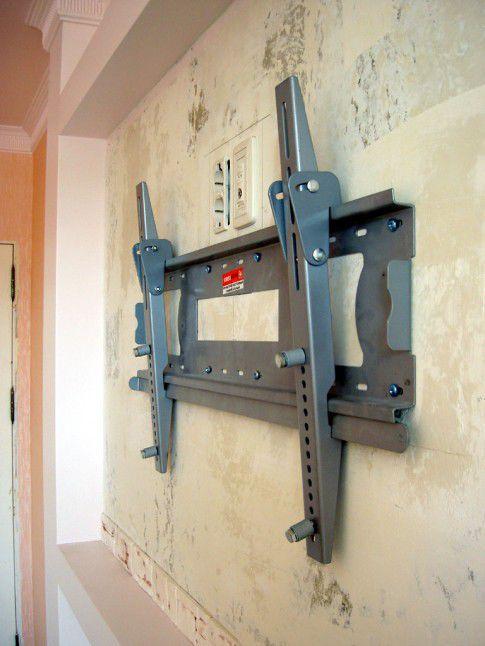 Как сделать крепление к стене телевизора
