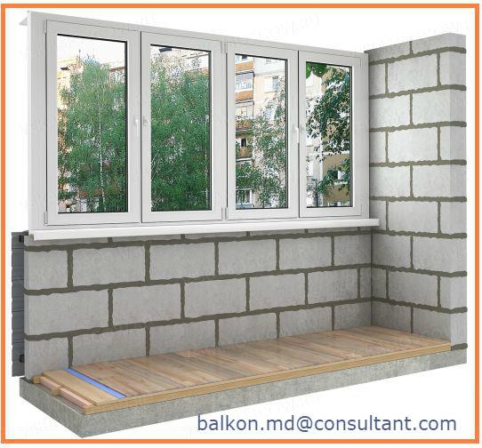 Ремонт балконы: кладка,расширение,удлинение,остекление.без в.