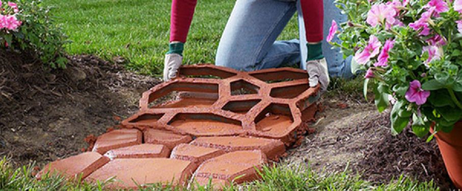 Сделать садовую дорожку своими руками из тротуарной плитки