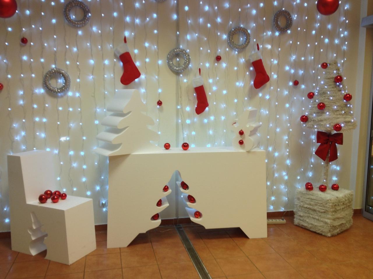 Новогоднее украшение помещения фото