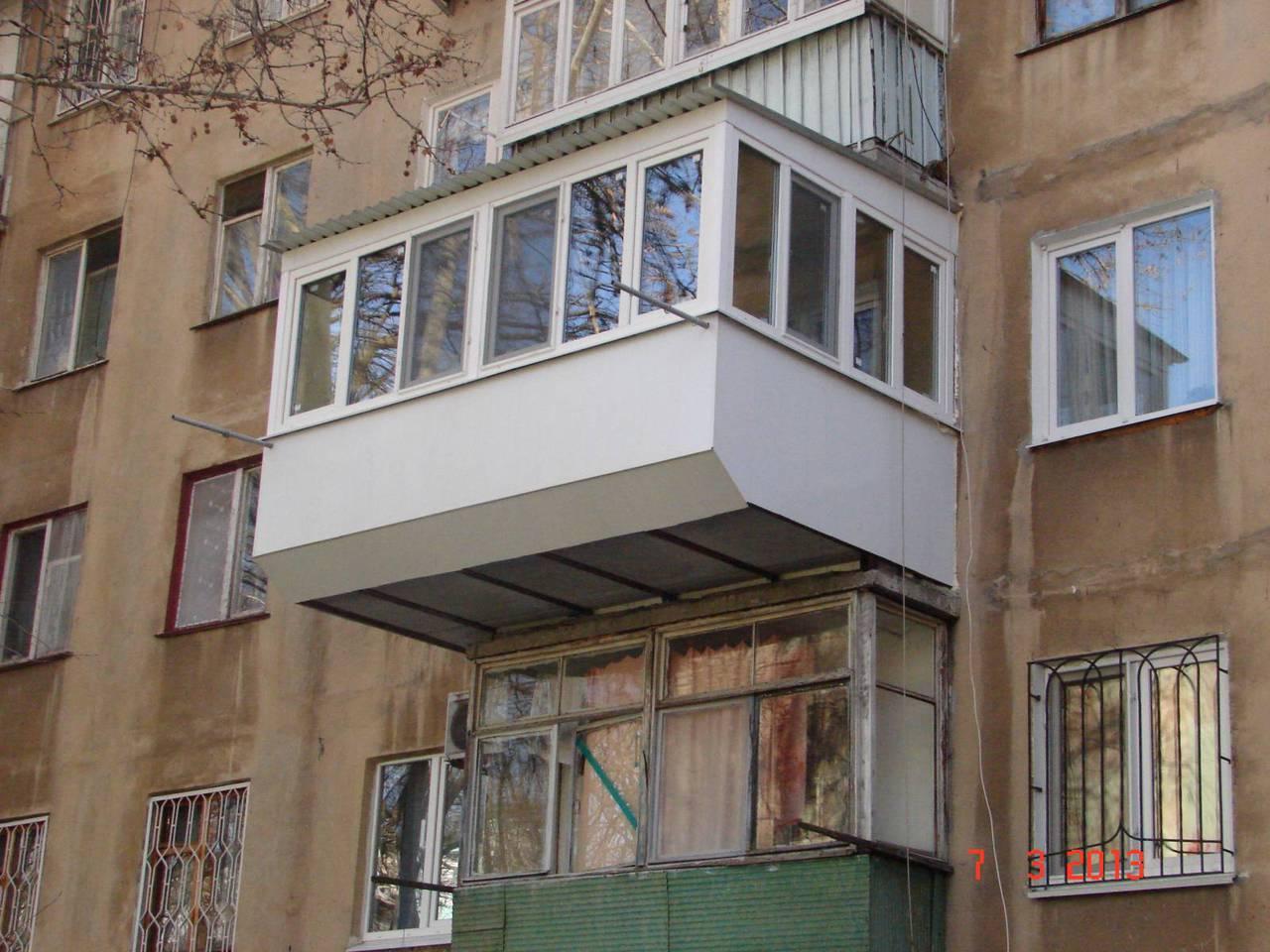 Увеличение балконов в хрущевках..