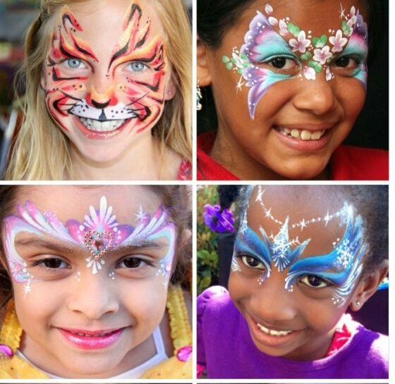 аквагрим Desen Pe Fata Face Painting Profesional Pentru Copii