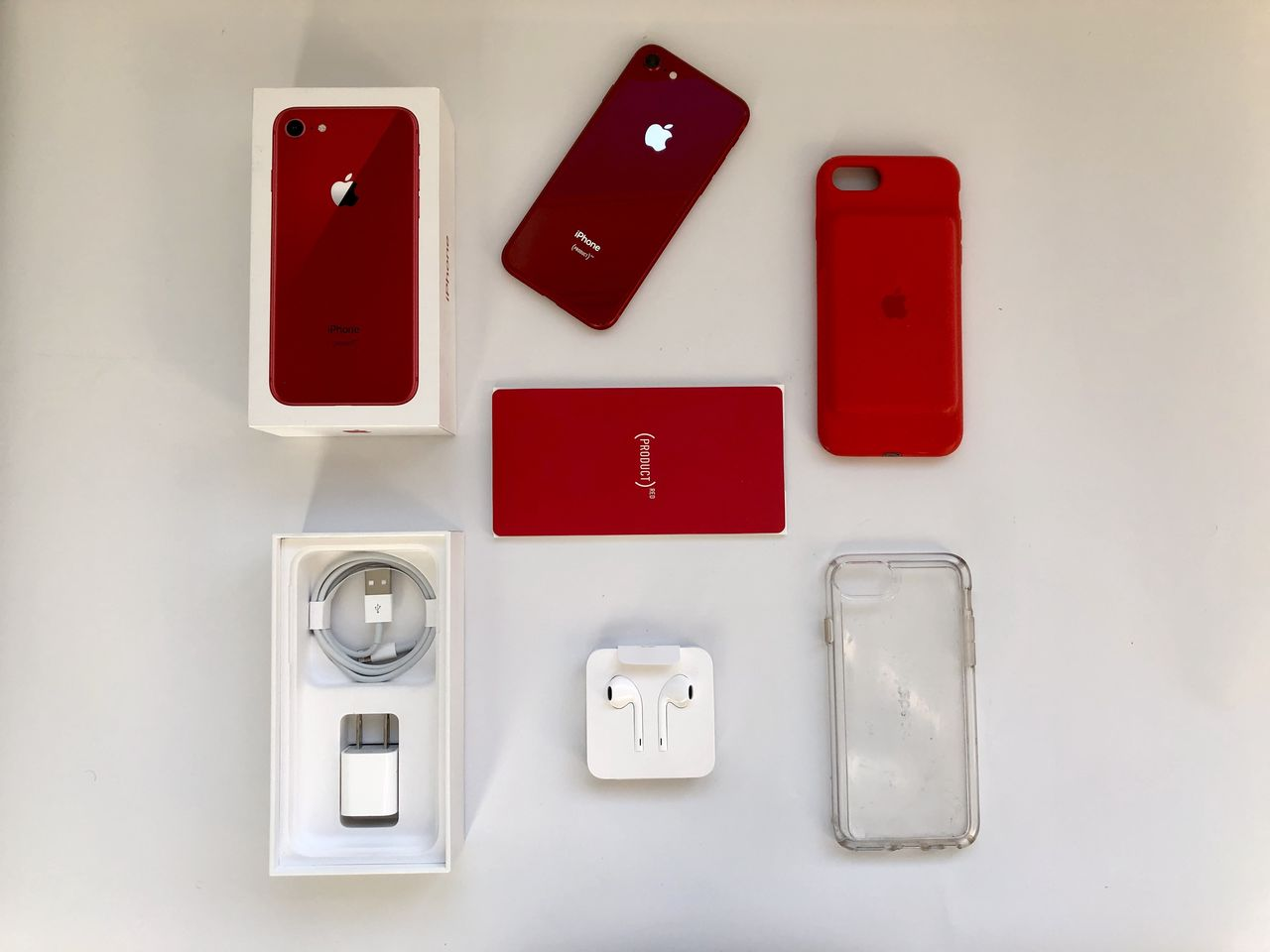Apple iPhone 8 – 64Gb (Product Red) – Полный комплект + Smart Battery Case