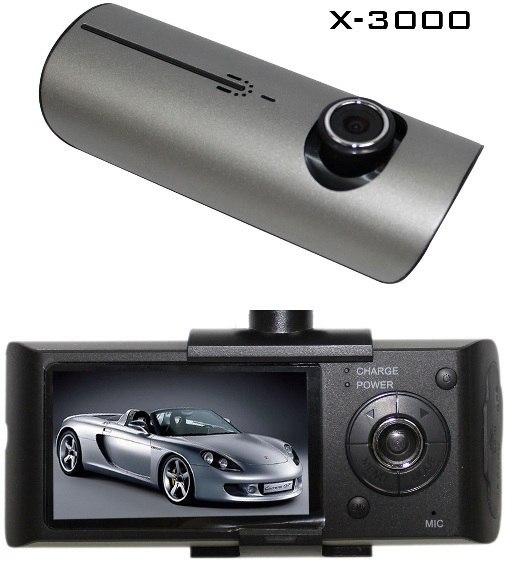 Более подробно можно посмотреть на сайте www.forcar.md Видеорегистратор на 2 камеры DOD X3000