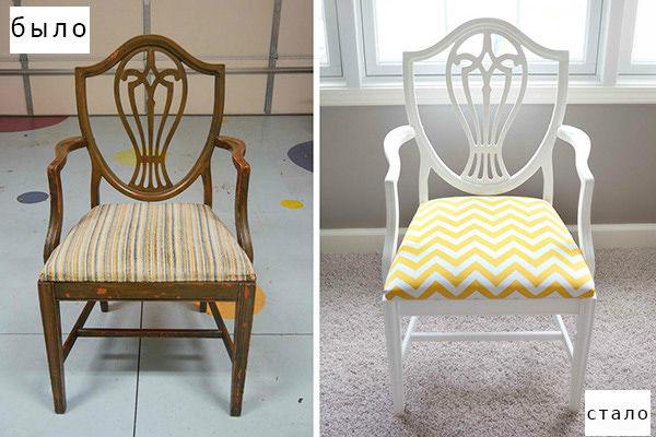 Чем обновить деревянные стулья своими руками