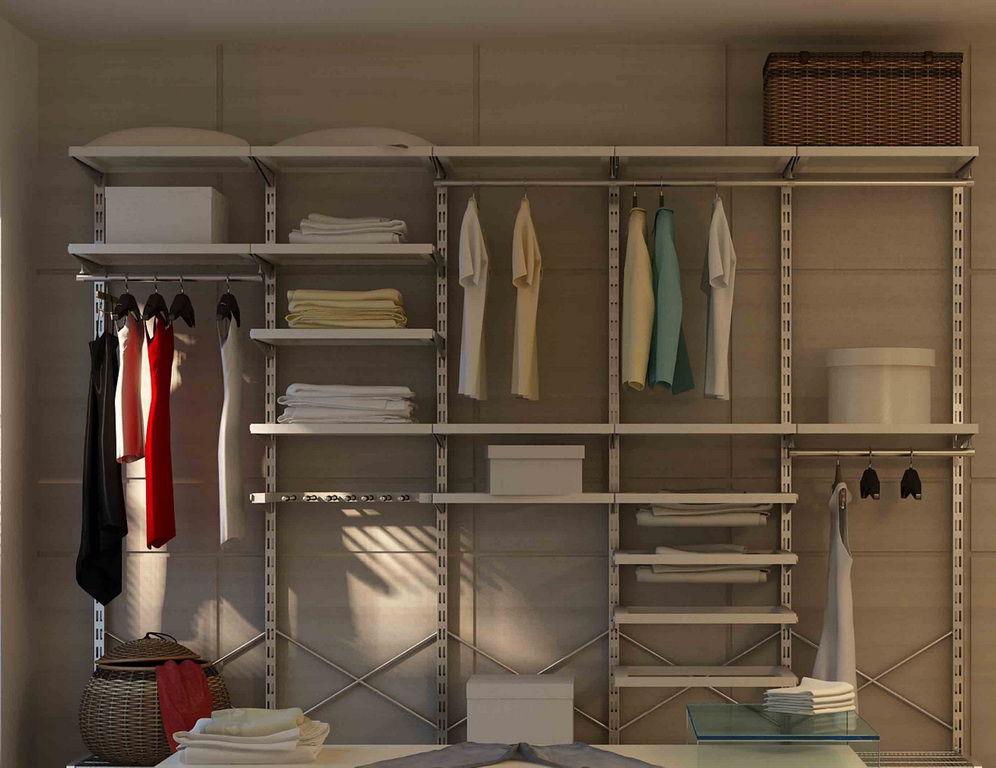 Установка гардеробов и стеллажей для дома или офиса.