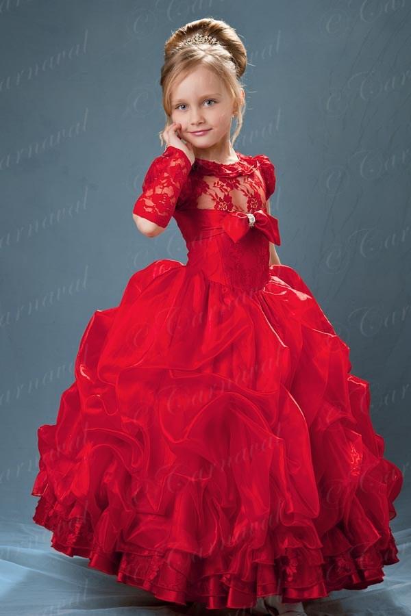 Фото нарядных красных платья