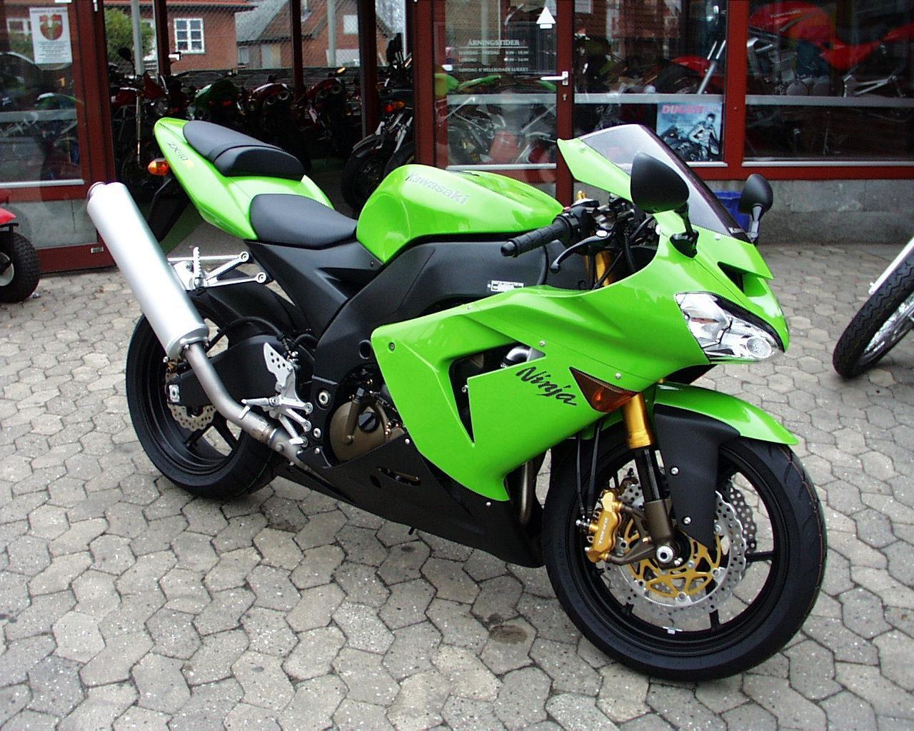 мотоцикл зелено-черный загрузить