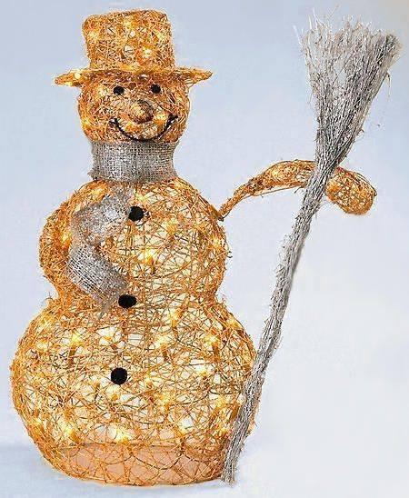 Снеговик своими руками из проволоки 26