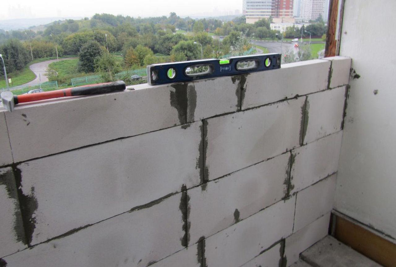 Как сделать теплый балкон из пеноблоков видио.