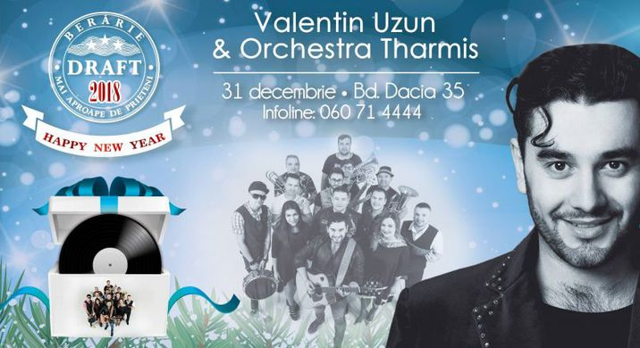 Revelion 2018 Valentin Uzun Orchestra Tharmis в Draft Arena кишинев