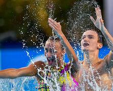 Молдавская синхронистка Каланча, представляющая Россию, выиграла золото