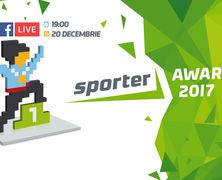 Urmăriți în direct Sporter Awards 2017 pe pagina Sporter.md