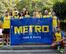Сотрудники компании METRO вышли на корпоративную тренировку