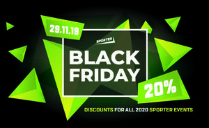 Black Friday only — 20% off any event by Sporter
