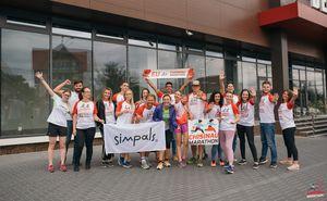 Echipa Simpals -  gata să facă față Maratonului Internațional Chișinău