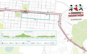Официально утвержден маршрут Кишиневского марафона-2015