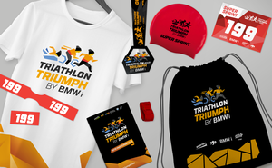 The starter package of Triathlon Triumph by BMW i participants