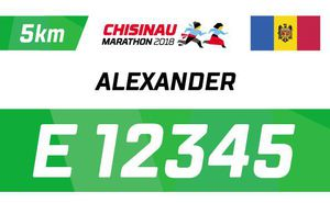 How to get an individual bib number for Chisinau Marathon 2018