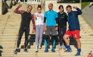 Команда Unimedia готова получить свои медали на Кишиневском Марафоне!