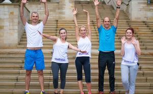 Preparatory training for marathon in Oriflame style