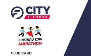 Club card in the CityFitness for Chisinau Marathon participants