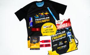 Pachetul de start al participantului la Triathlon Triumph by Multisport