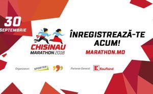 A fost dat startul înregistrării pentru Maratonul din Chișinău 2018