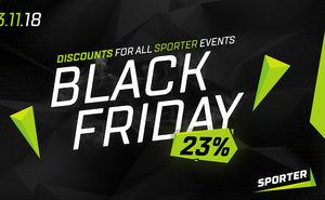 Как  в «Черную пятницу» получить скидку в 23% на ивенты Sporter