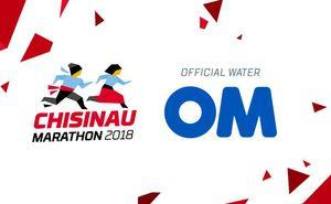 ОМ – official water of Chisinau International Marathon 2018