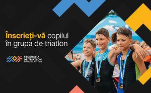 FTRM a format un grup de copii pentru antrenamente de triatlon