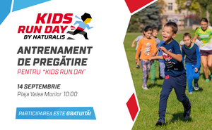 "Antrenament de pregătire pentru ""Kids Run Day by Naturalis"""
