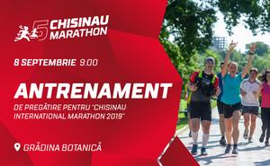 Al doilea antrenament pentru Maratonul Internațional Chișinău