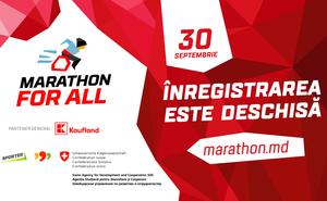 """A fost dat startul înregistrărilor pentru cursa """"Marathon for All"""""""