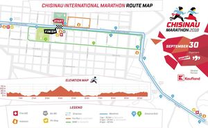 The route of the 4th Chisinau International Marathon is approved