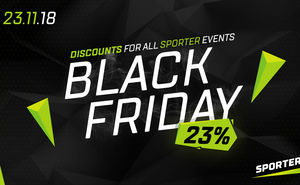 How to get a 23% discount for Sporter events on Black Friday
