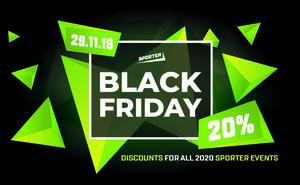Только в Black Friday — 20% скидка на любой ивент от Sporter