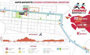 Утвержден маршрут четвертого Международного Кишиневского Марафона