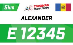 Успей получить именной номер участника Chisinau Marathon 2019