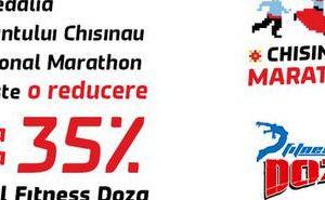 Primeşte o reducere în reţeaua Fitness Doza, la prezentarea medaliei Maratonului din Chişinău!
