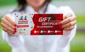 Marathon participation certificate – original gift for a champion