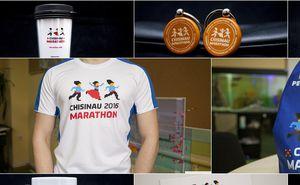 Commemorative attributes of Chisinau Marathon at Sport Expo