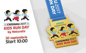 Medalia maratonistă pentru tinerii campioni ai Kids Run Day by Naturalis