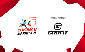 Grafit supporting the fifth Chisinau International Marathon participants