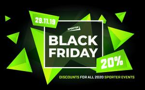 Doar de Black Friday aveți 20% reducere la orice eveniment Sporter
