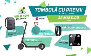 În cadrul Velo Fun by Škoda va avea loc tombola cadourilor de la Enter