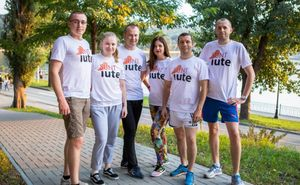 The Iute Credit team is ready for the marathon