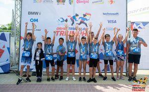 В Оргееве прошли детские национальные соревнования по триатлону